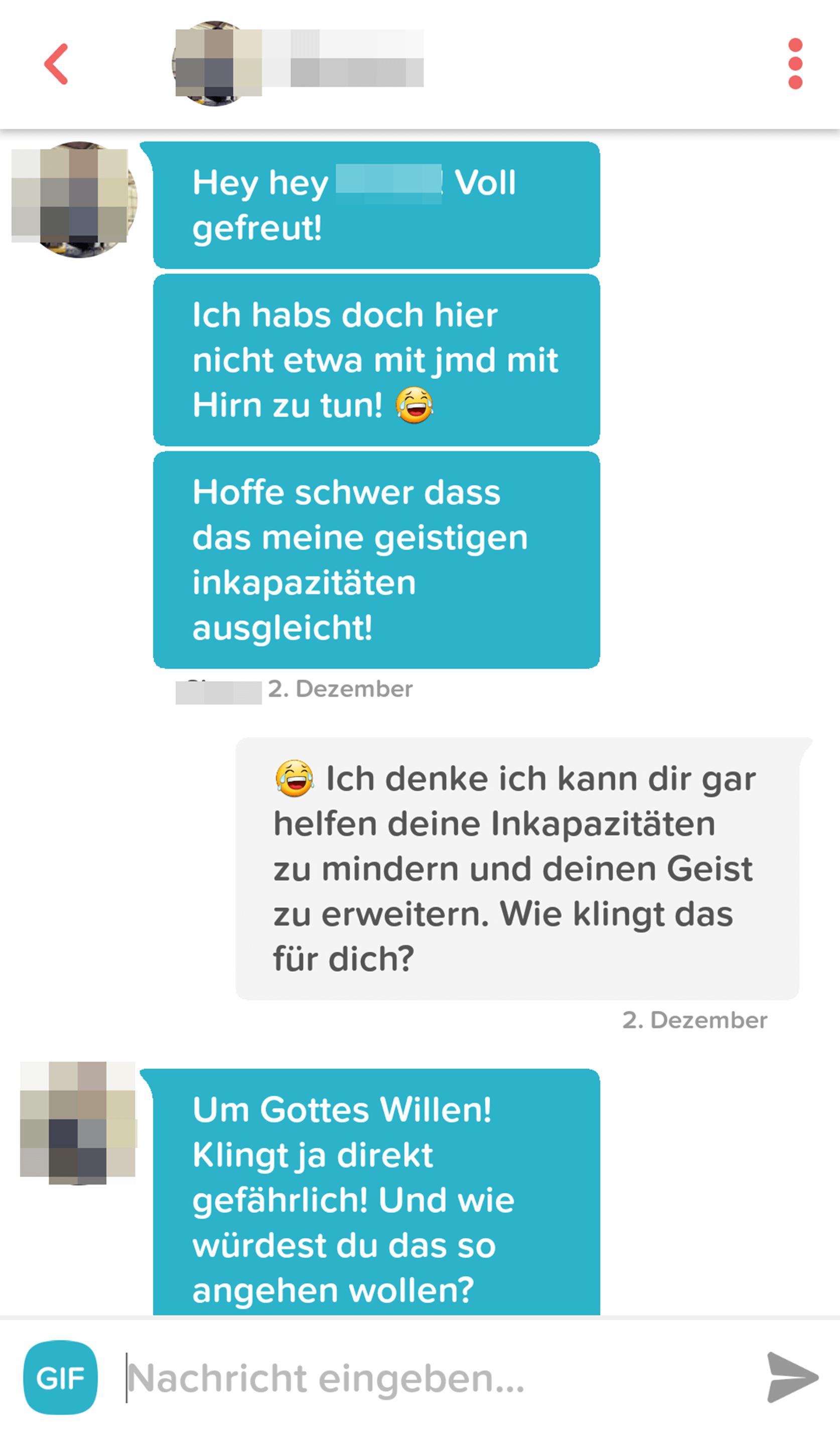 Lustige Konversation