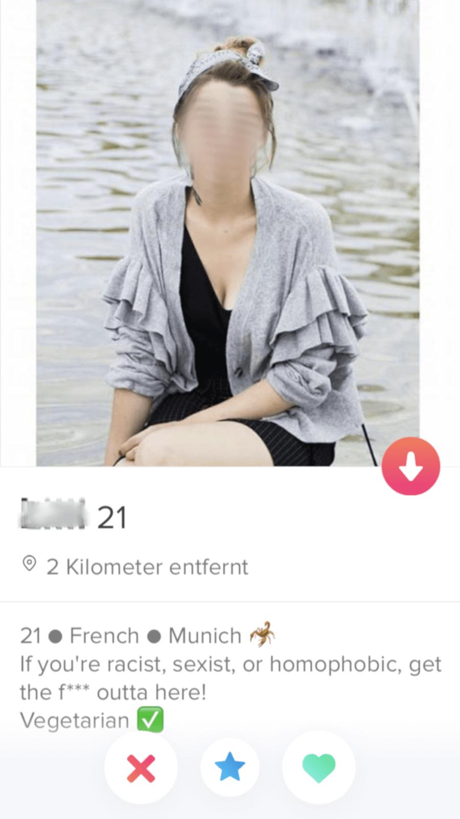 Tinder Profil Frau