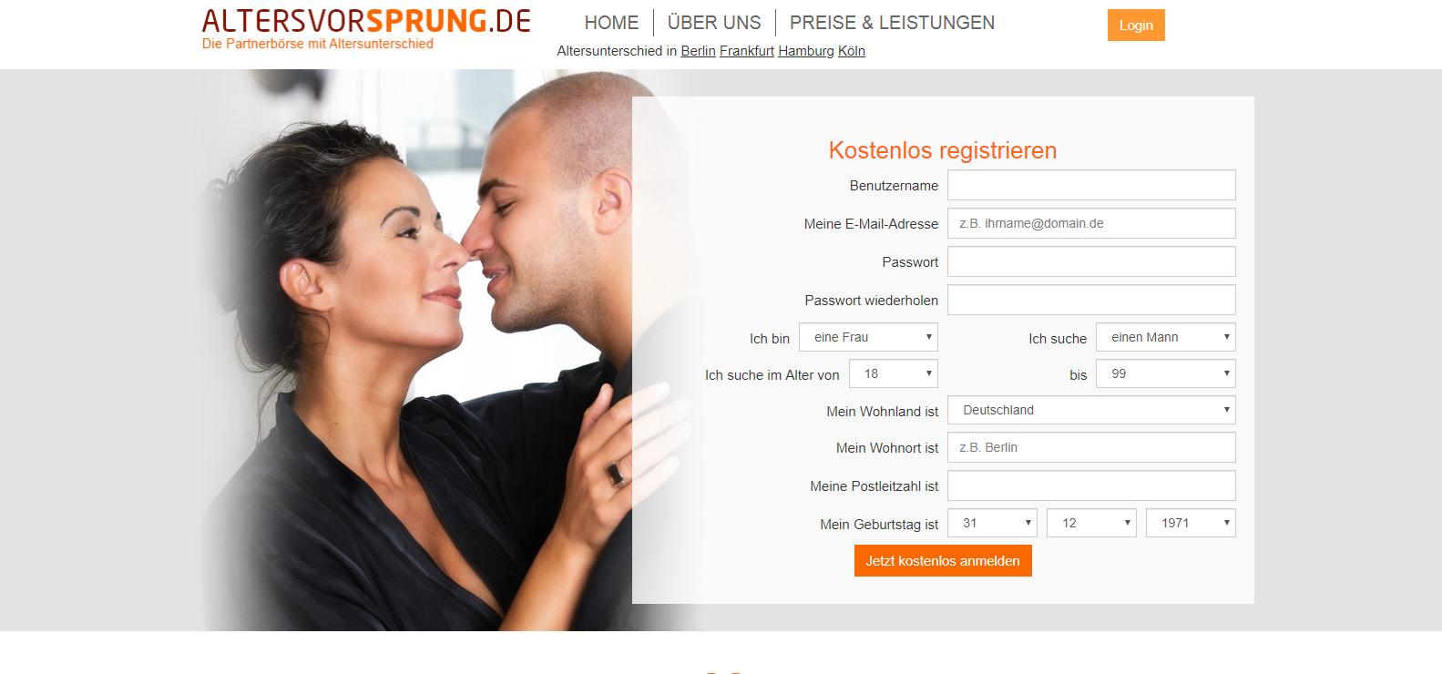 Online Dating altersunterschied