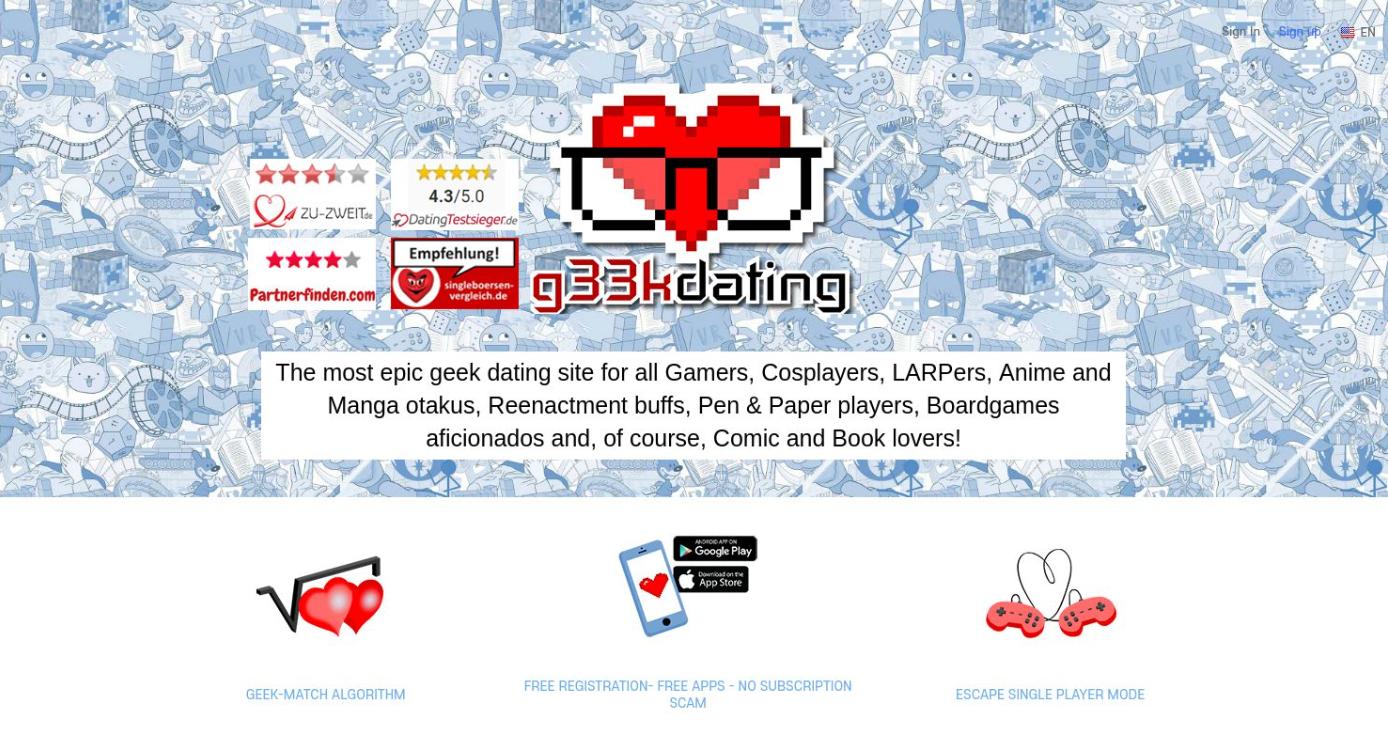 G33kdating Startseite