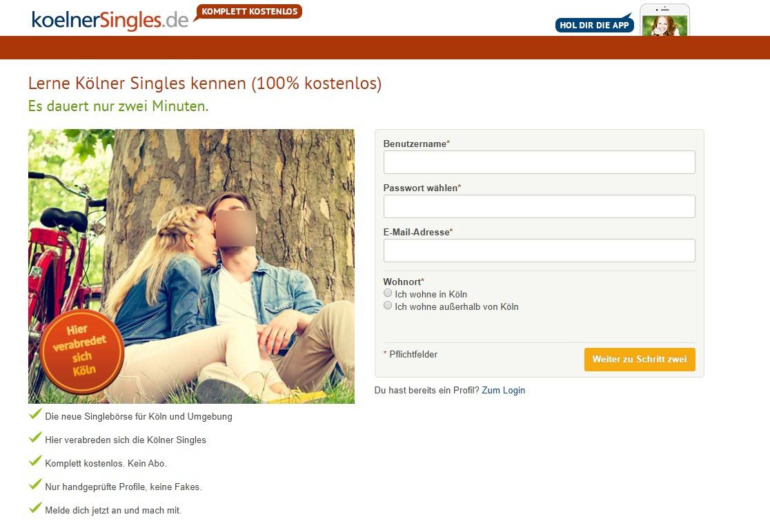 Koelner Singles Anmeldung