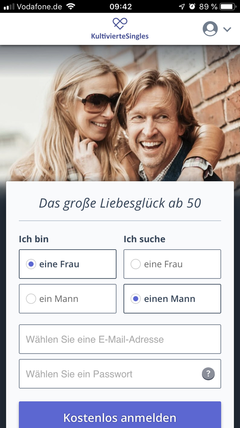 Dating website de.k. über 50