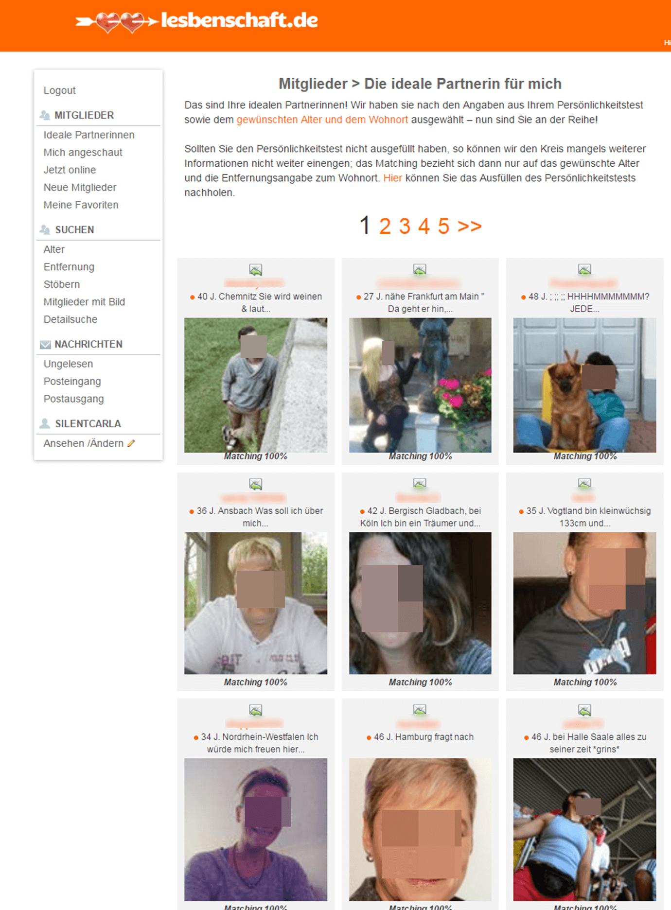 Lesbenschaft.de Partnervorschläge