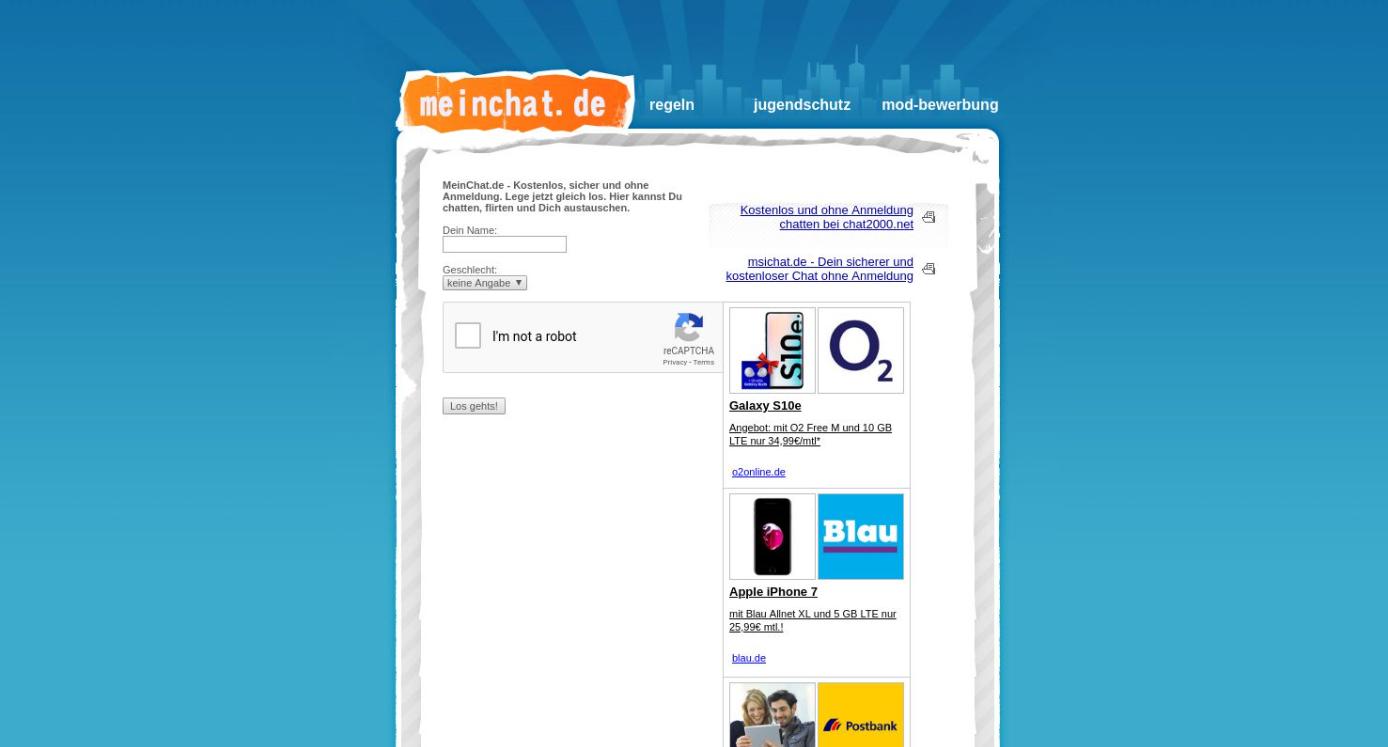 MeinChat Startseite