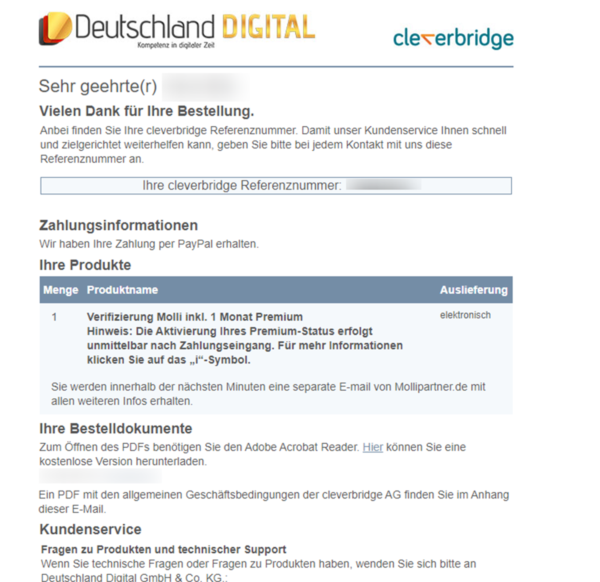 MolliPartner Verifizierung