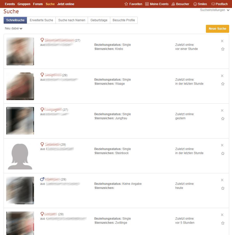 MünchnerSingles Kontaktvorschläge