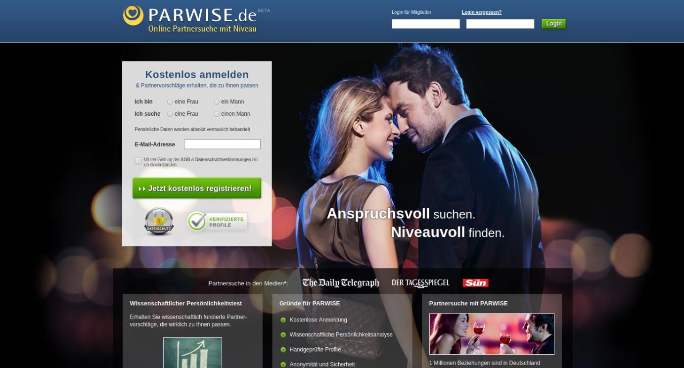 Parwise Startseite