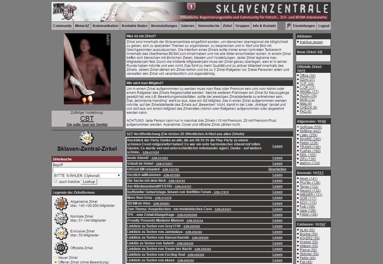 Sklavenzentrale Ritt Meisterin