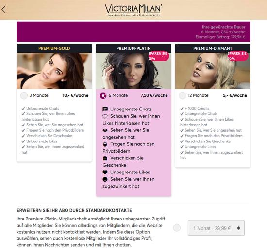 Victoria Milan Premium