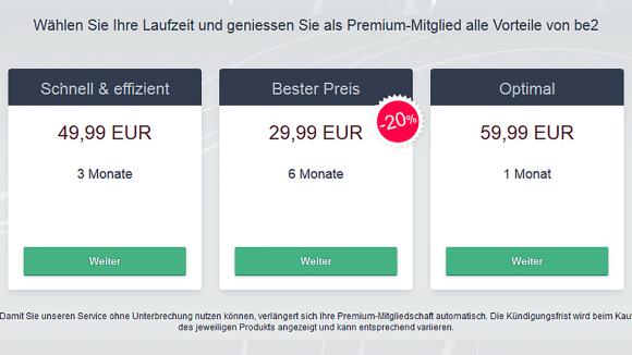 be2 DE Price
