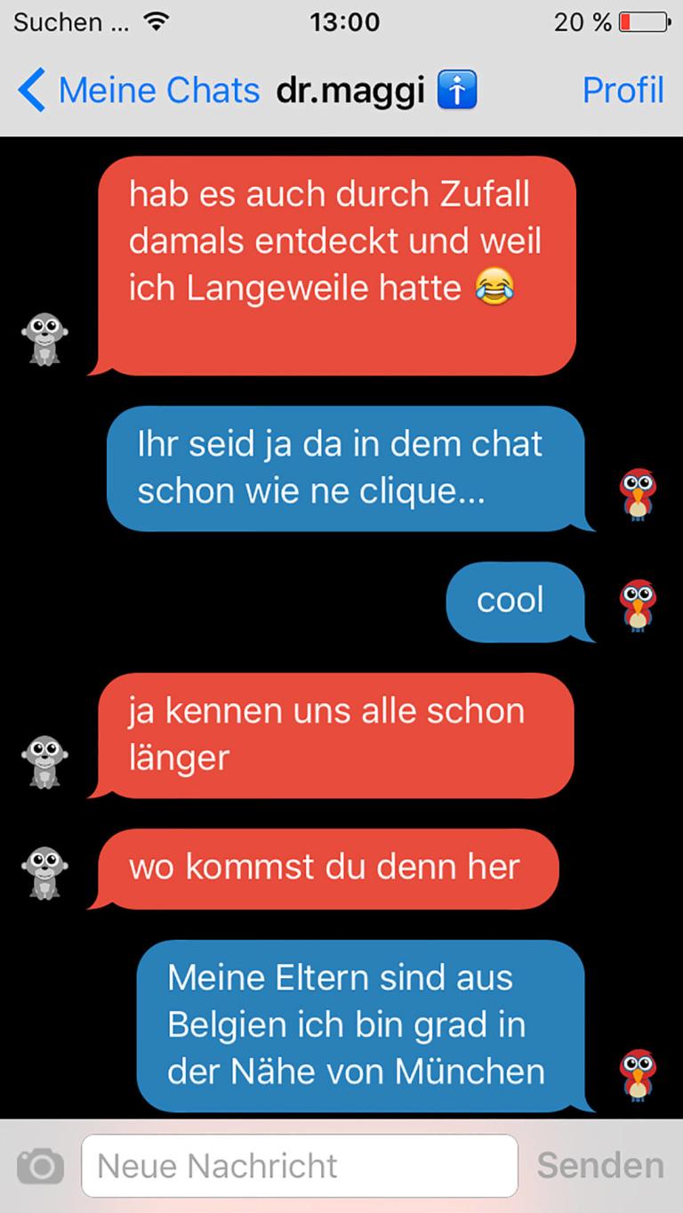 Erfahrungen sms chat moderator Online Text