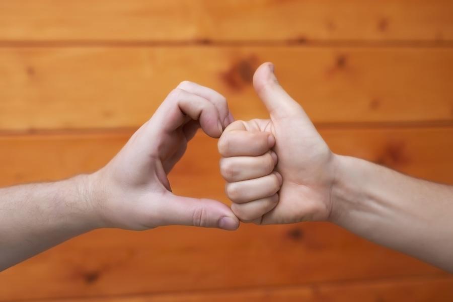 Friendzone Herz und Daumen hoch