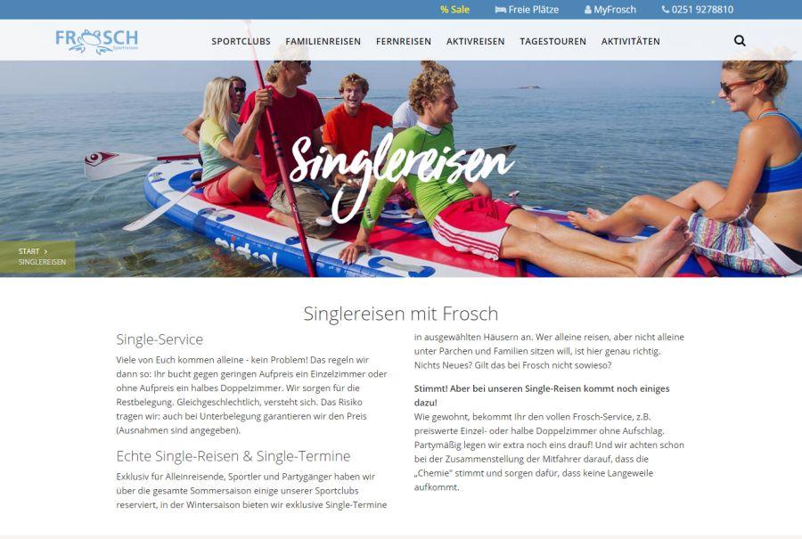 Frosch Sportreisen Singlereisen