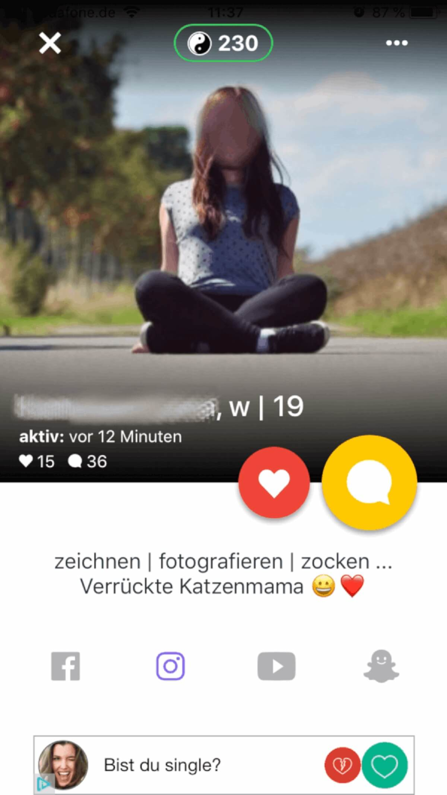 Profil auf Base Chat