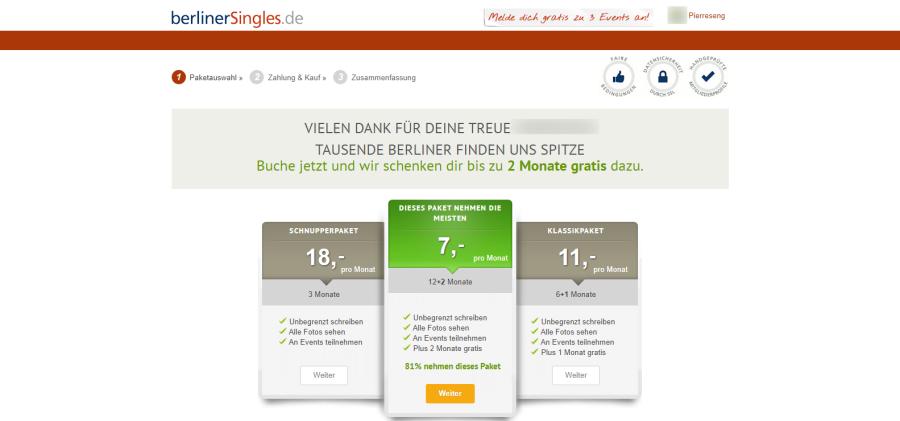 Berliner Singles Preise