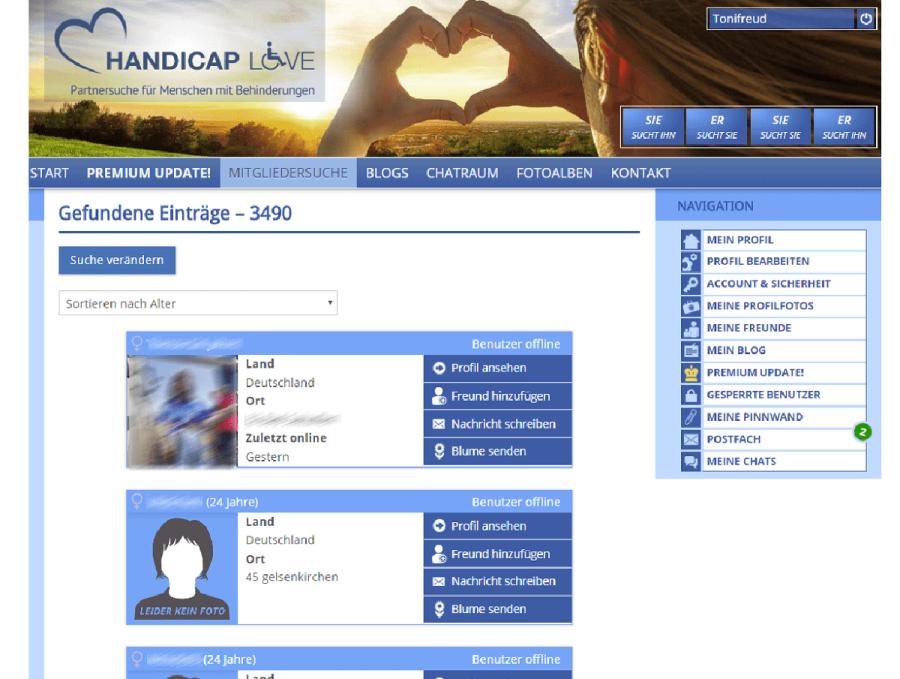 Handicap Love Partnervorschläge