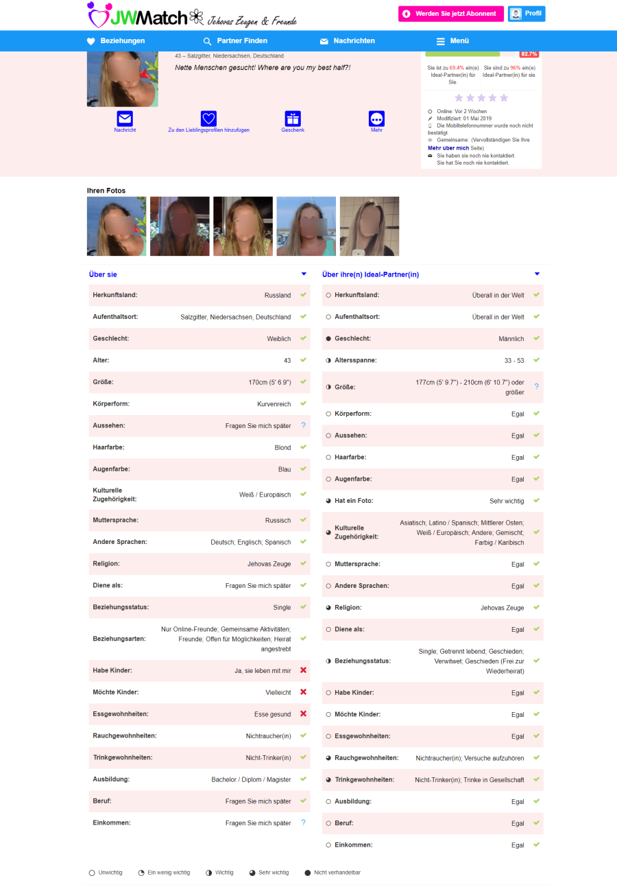 JWMatch.com Profil