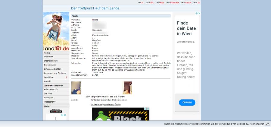 Landflirt Userprofil