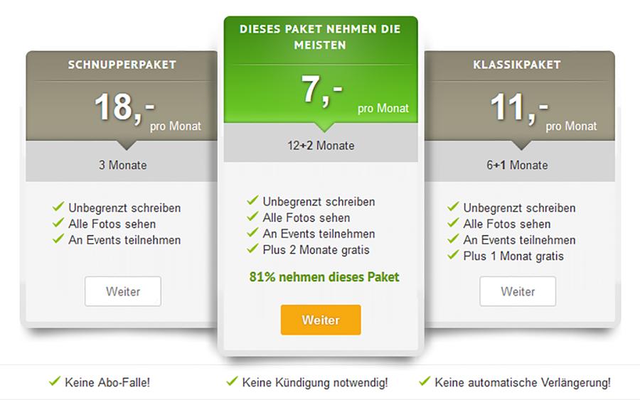 MünchnerSingles DE Price