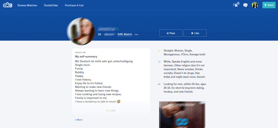 OKcupid Frauen Profile