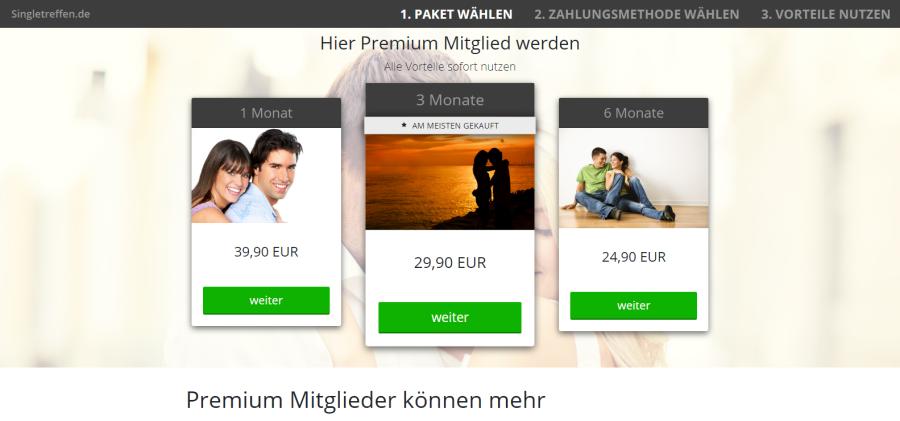 Singletreffen.de Preise