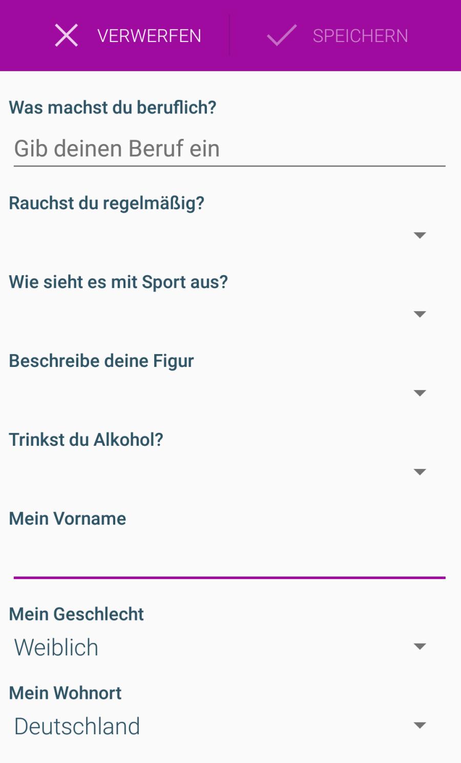 Whispar Profilfragen