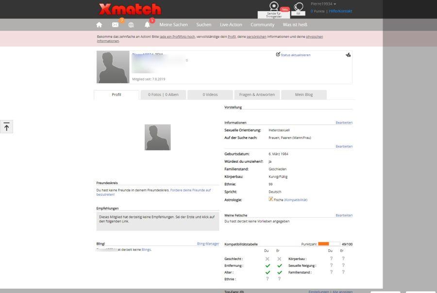 XMatch Profil