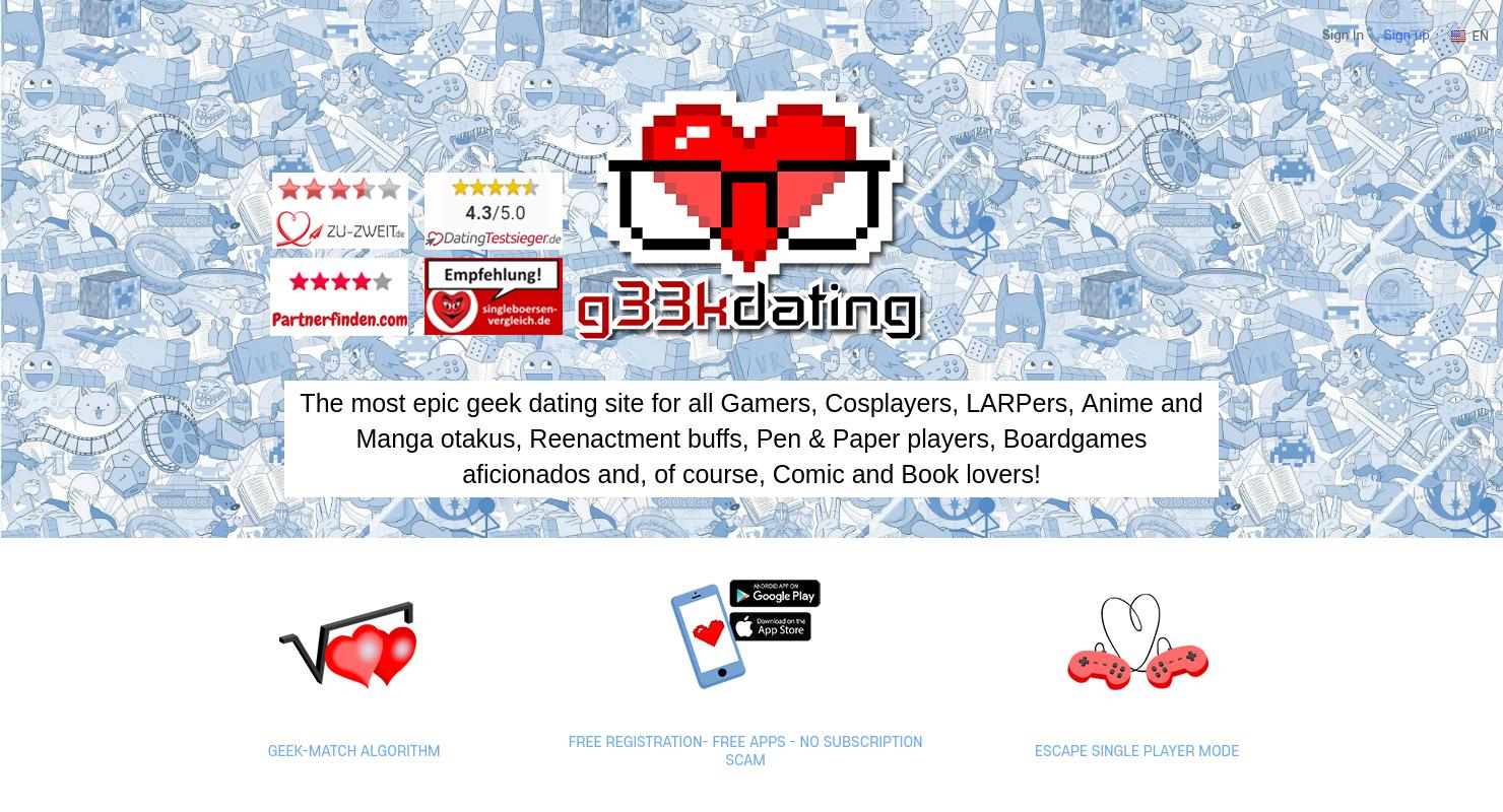 Appuyez sur app Dating