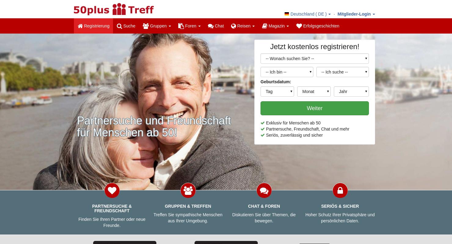 Ältere Dating-Website kostenlos
