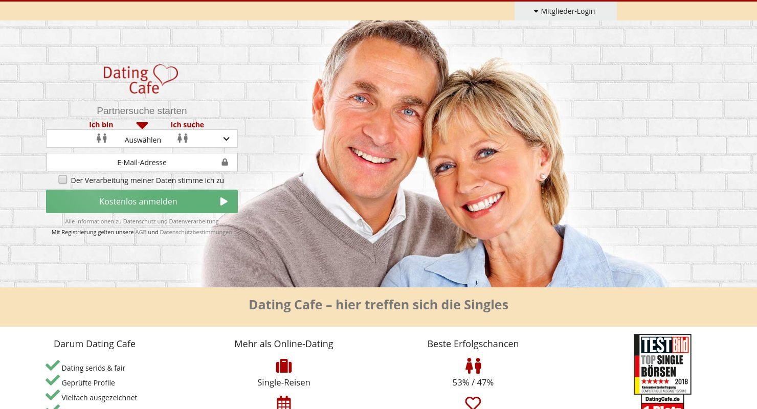 dating cafe jetzt online