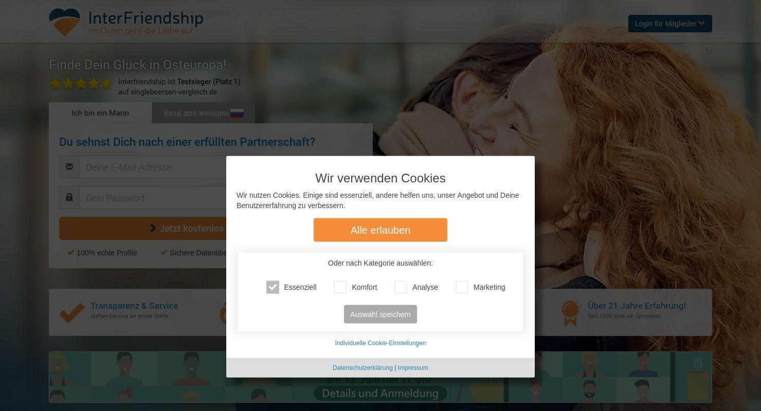 Interfriendship Test 2021 - Männer, auf nach Russland